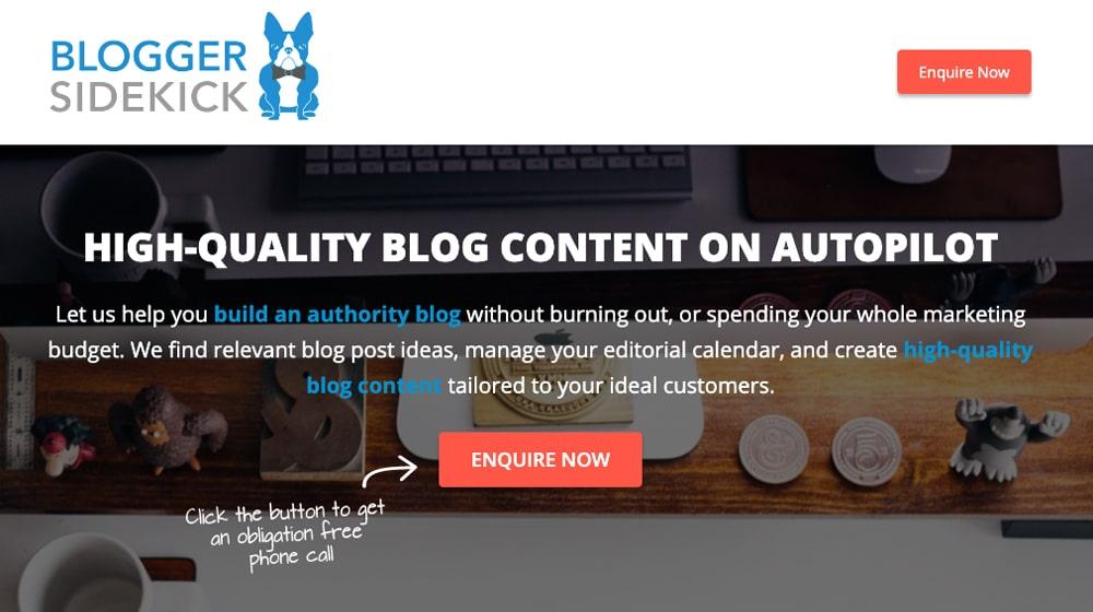 Blogger Sidekick Homepage