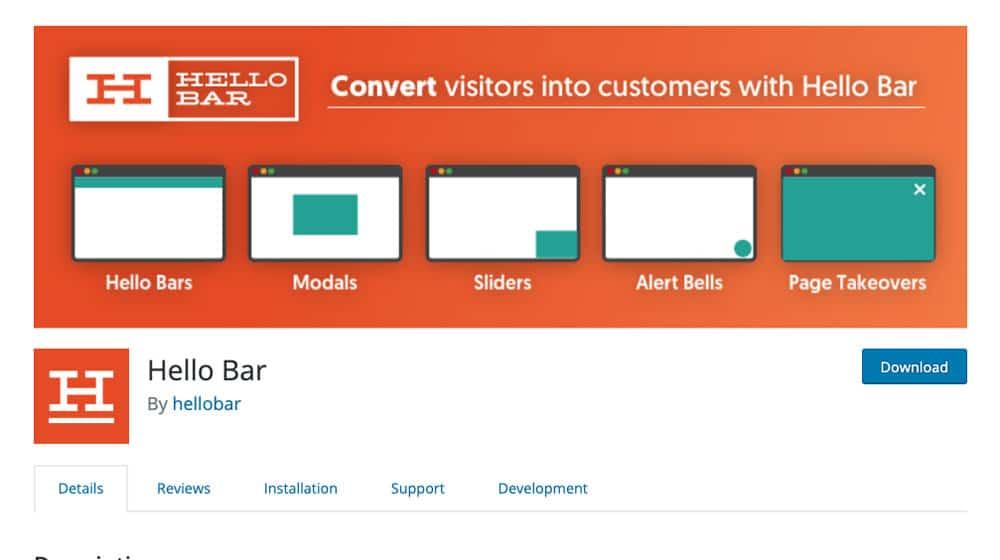 Hello Bar Site