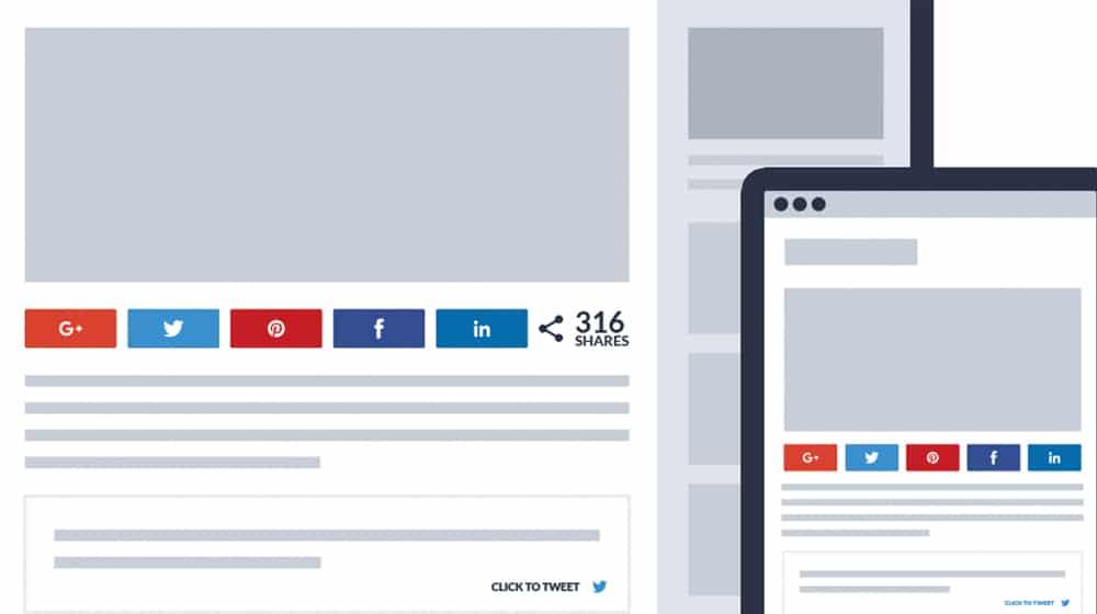 Social Shares on Post