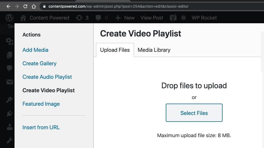 Uploading to WordPress Video
