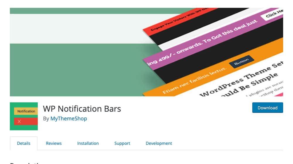 WP Notification Bars