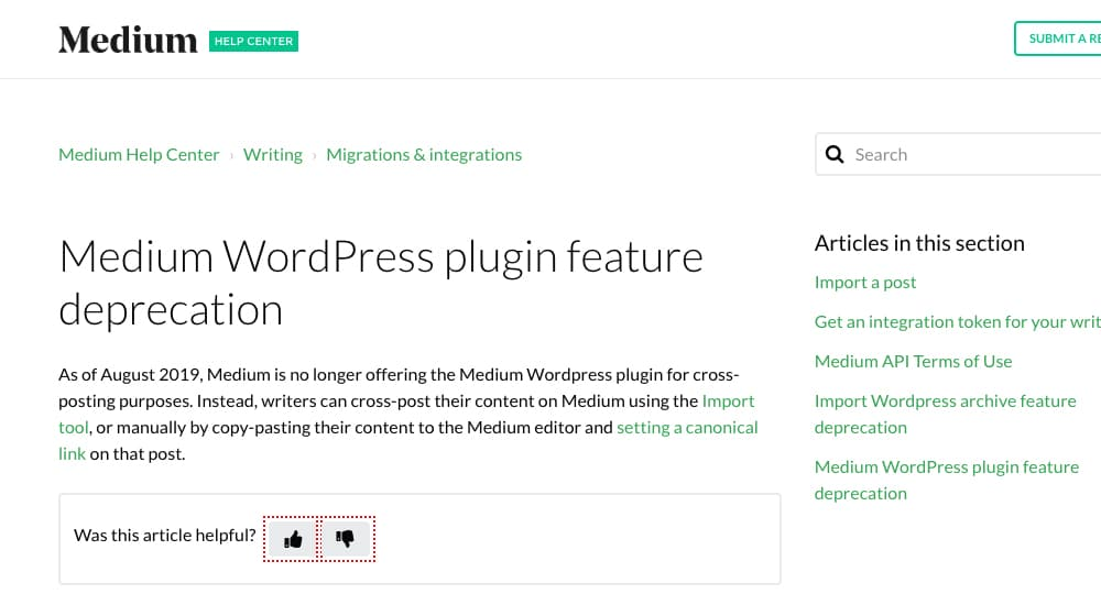 No Plugins for Medium