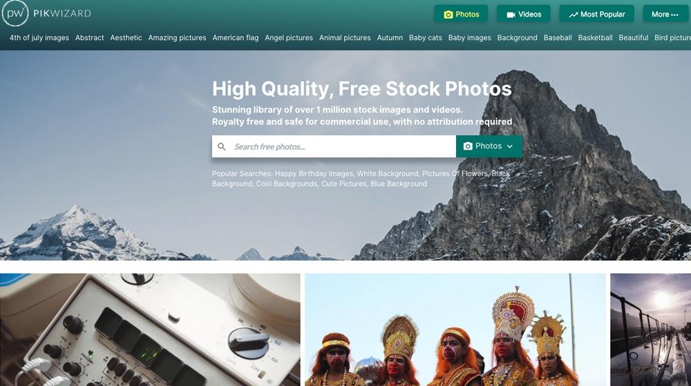 PikWizard Homepage