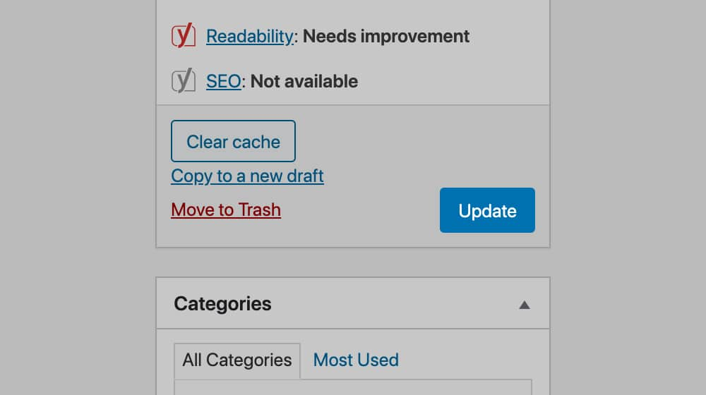 Updating a WordPress Post
