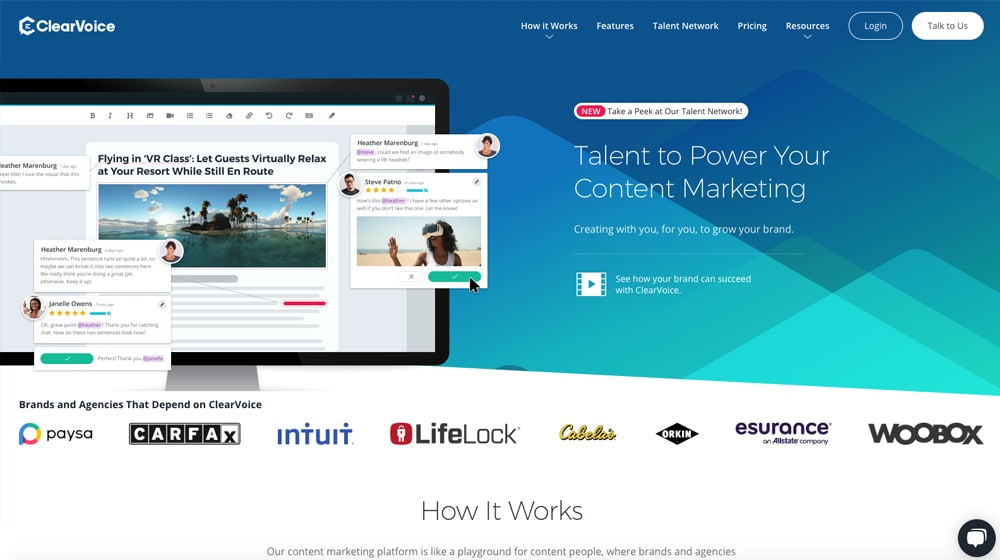 ClearVoice Homepage