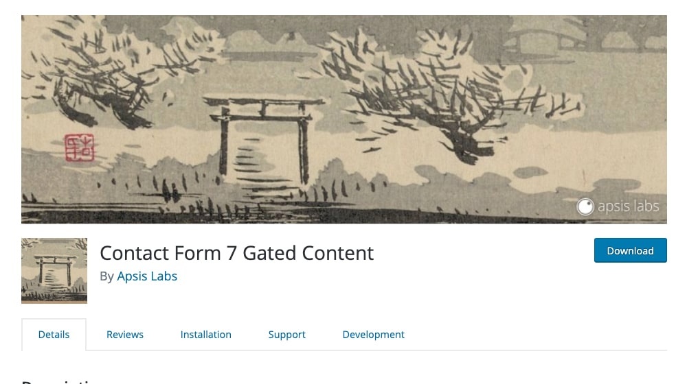 Contact Form Gated Content Plugin