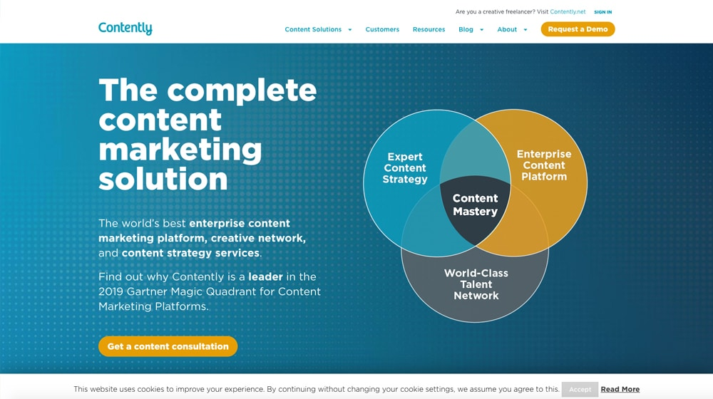 Contently Homepage