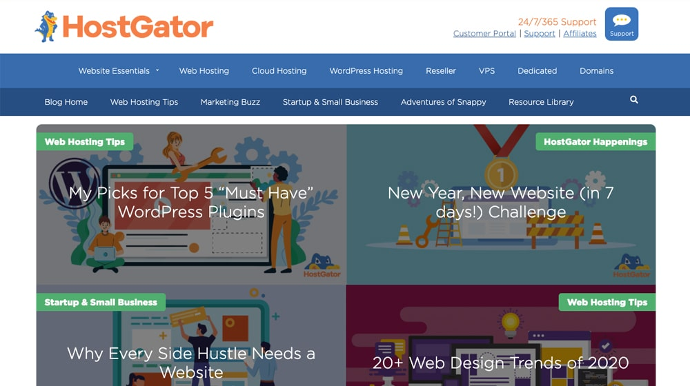 Hostgator Blog Homepage