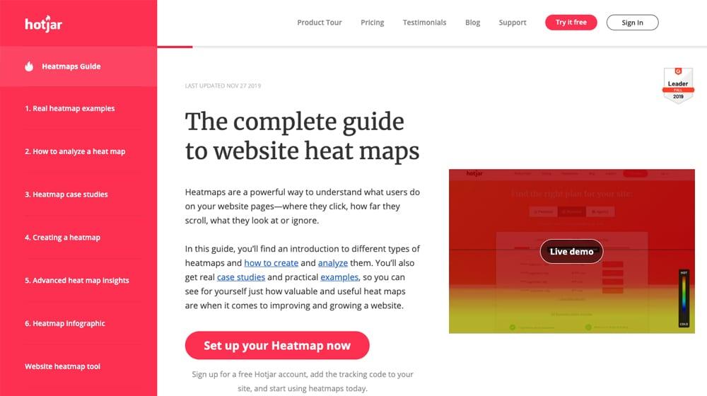 HotJar Homepage