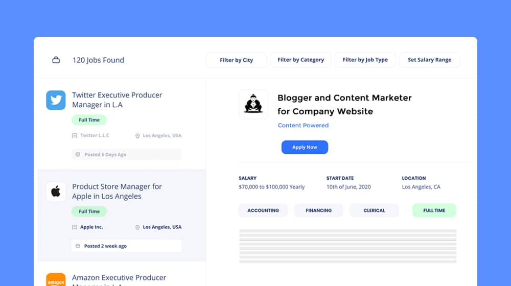 Job Board Listings for Bloggers