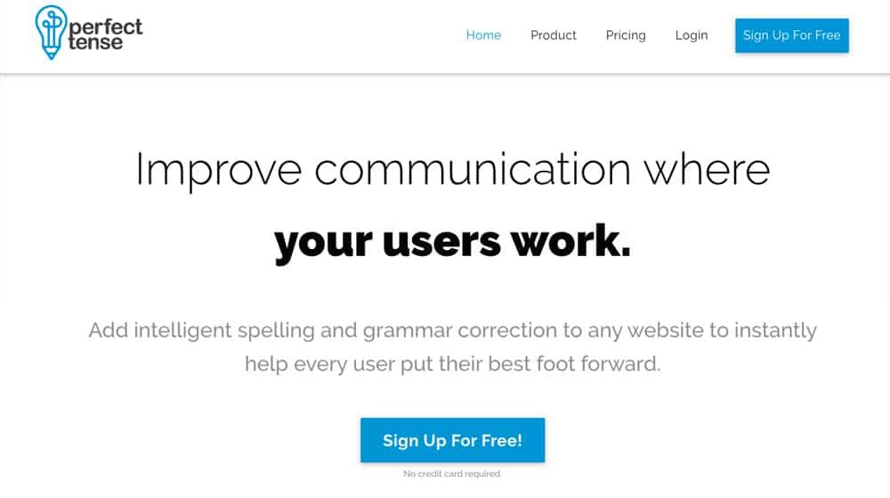 PerfectTense Homepage