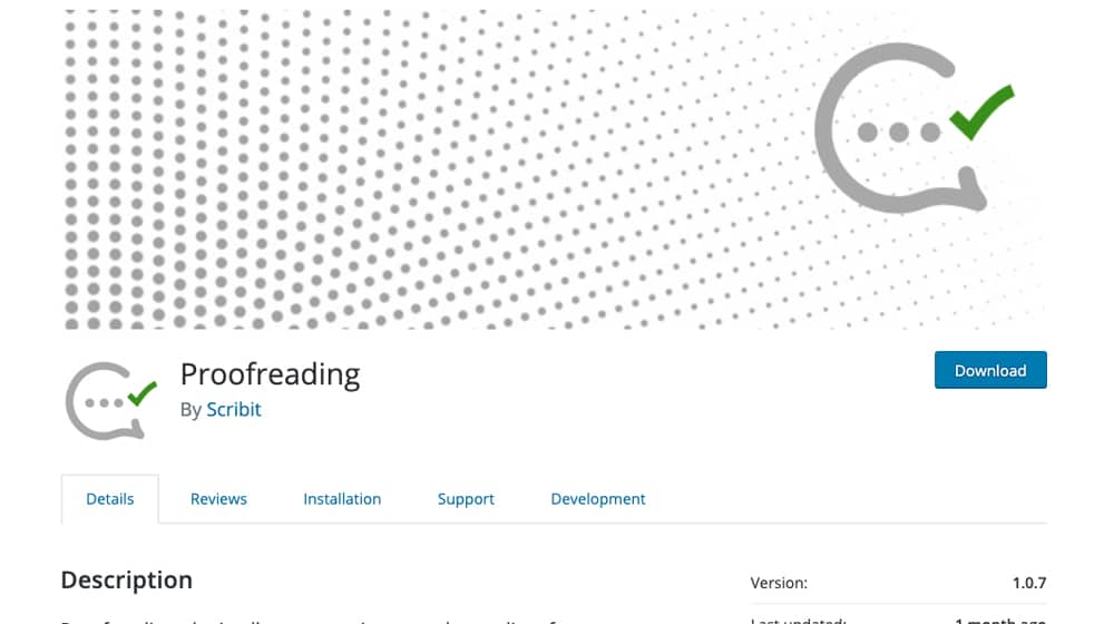 Proofreading WordPress Plugin