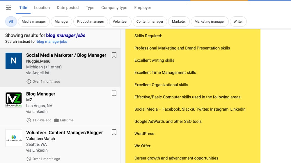 Skills of a Blog Manager