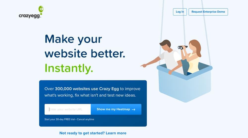 CrazyEgg Homepage