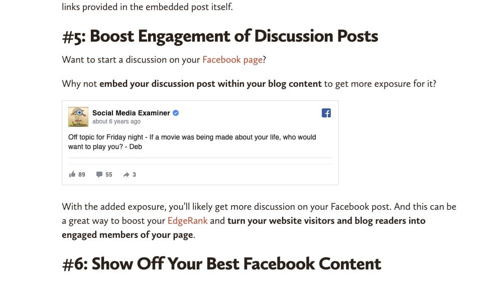 Embed a Post Within a Page