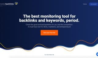 Monitor Backlinks Homepage