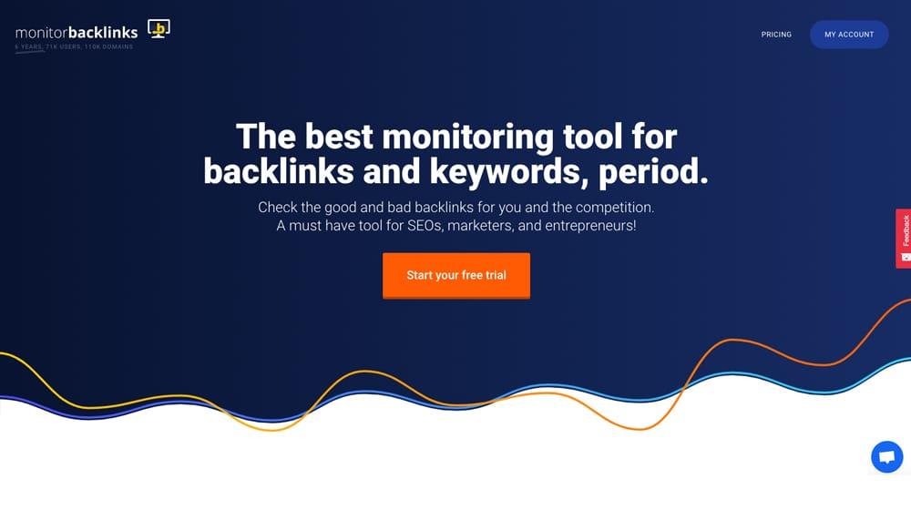 MonitorBacklinks Homepage