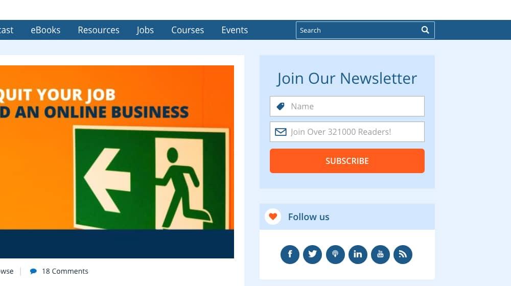 Sidebar Newsletter Signup
