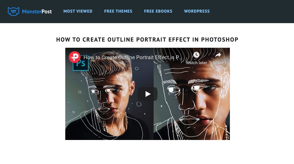 Tutorial in Photoshop