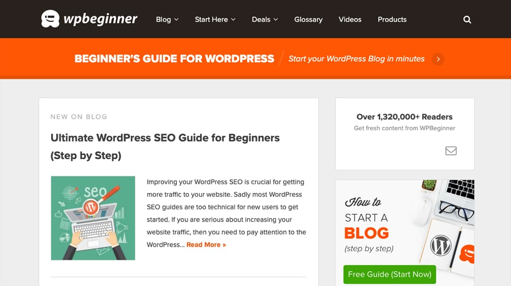 WPBeginner Homepage