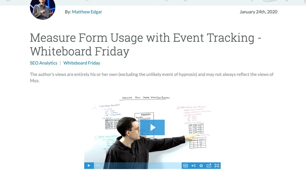 Whiteboard Friday Video