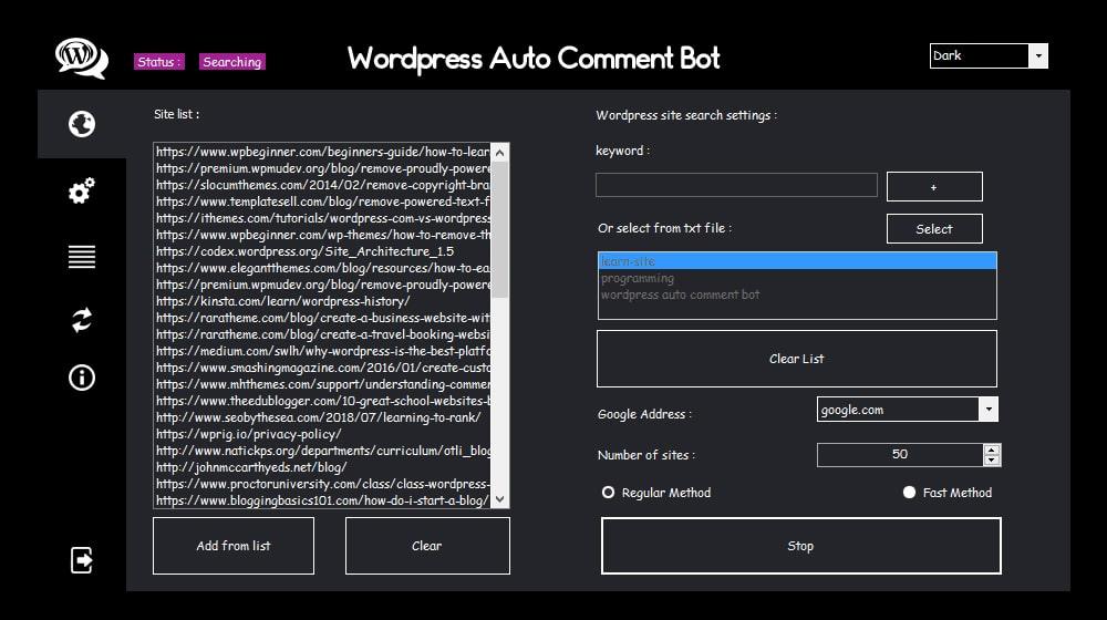 Wordpress Comment Bot