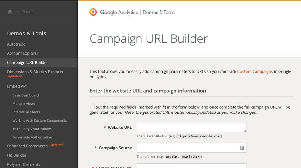 Campaign URL Builder on Google