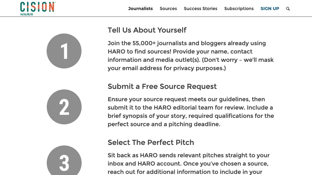 Cision Join as a Journalist