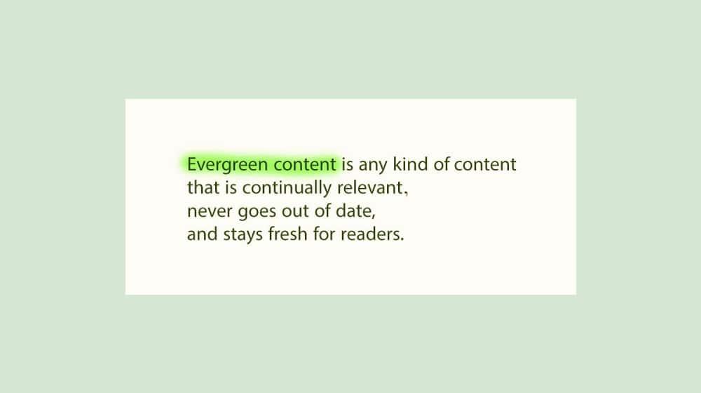Evergreen Definition