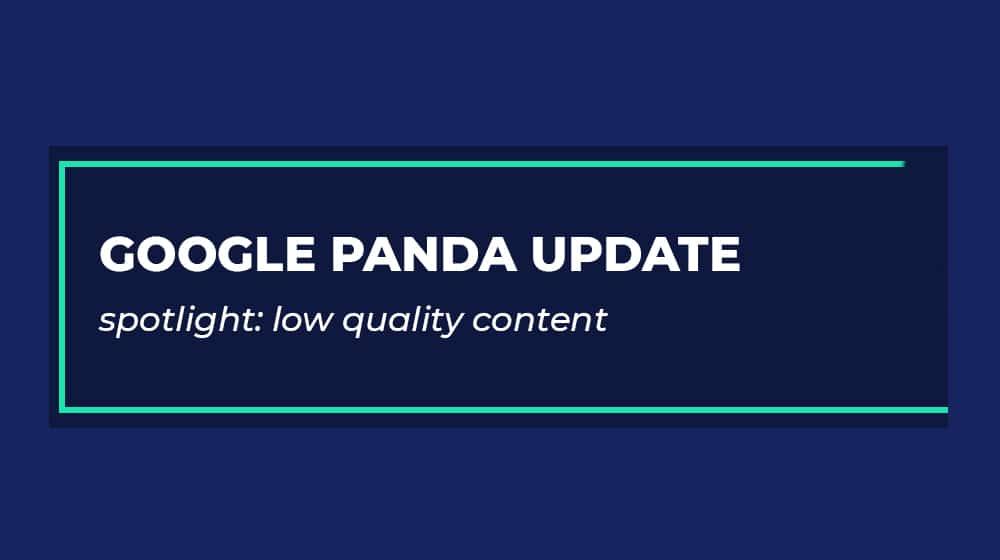Google Panda Low Quality Content