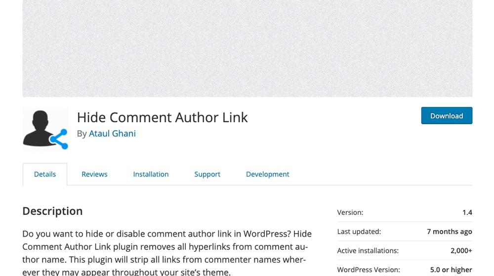 Hide Comment Author Link