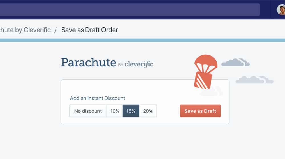 Parachute Add Discount