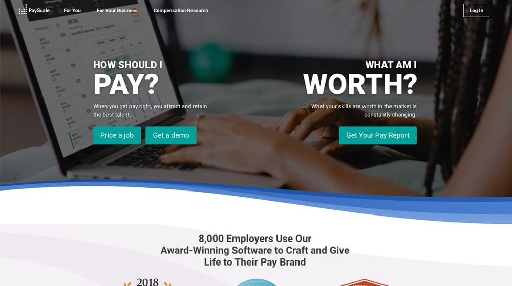 PayScale Homepage
