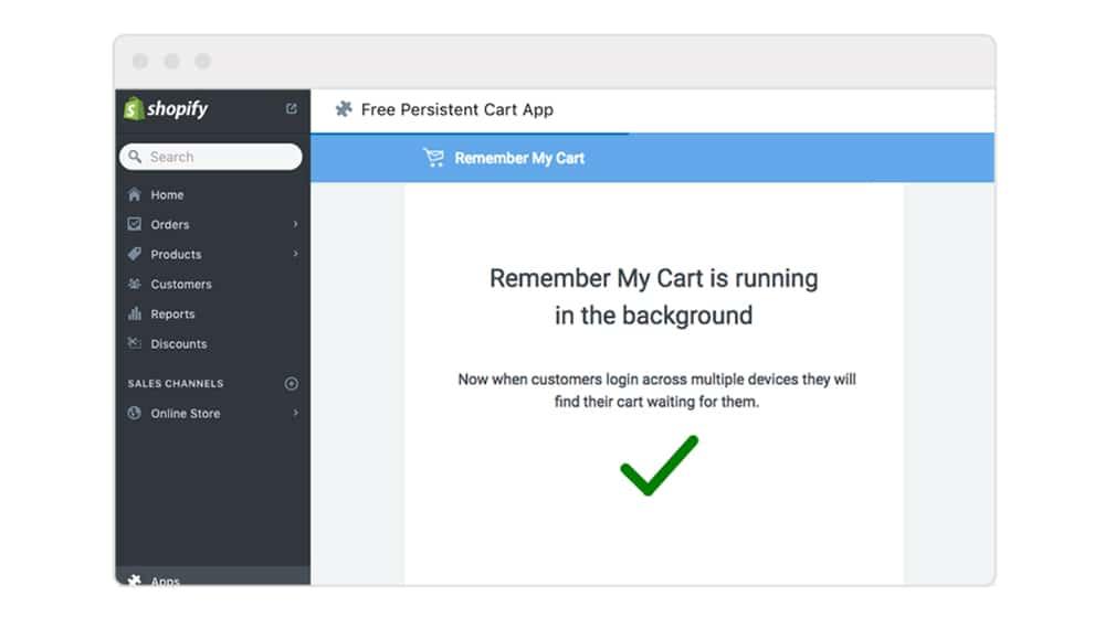 Remember My Cart App