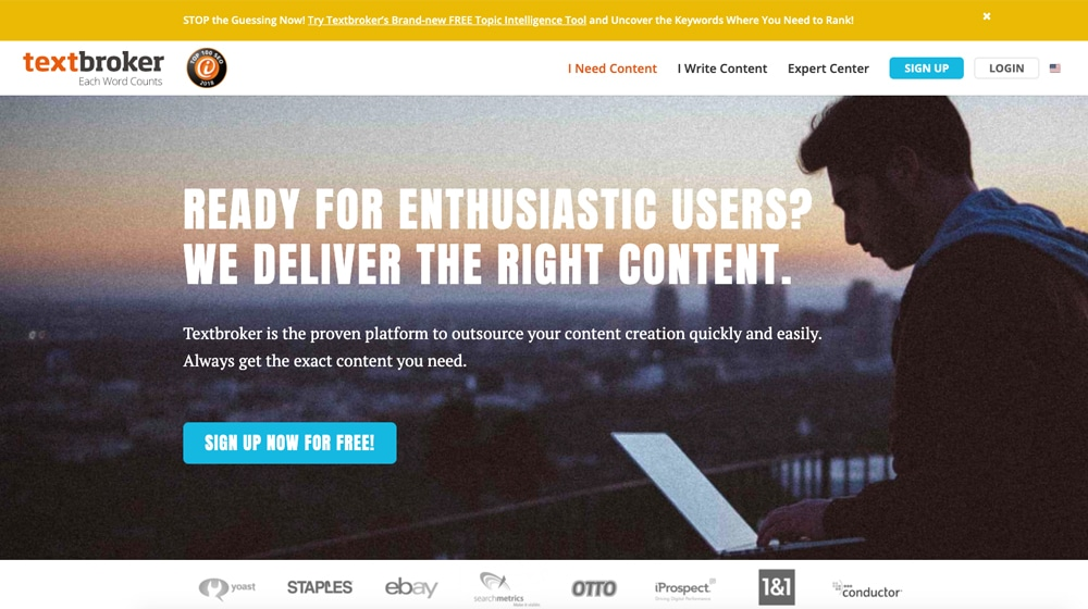 TextBroker Homepage