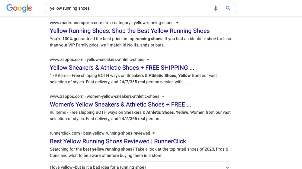 Yellow Running Shoes