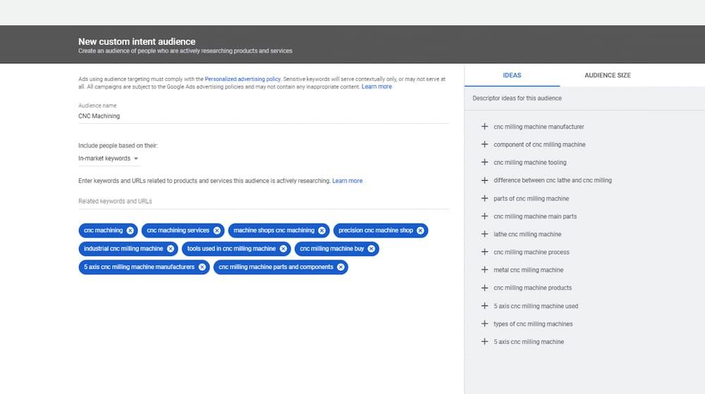 Custom Targeting Example