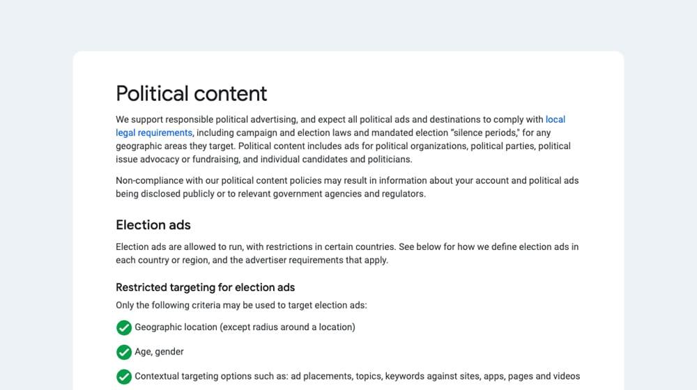 Political Content