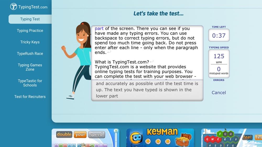 Typing Text Screenshot
