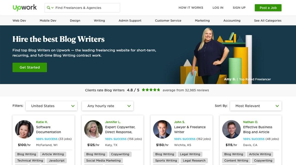 Upwork Freelance Writers