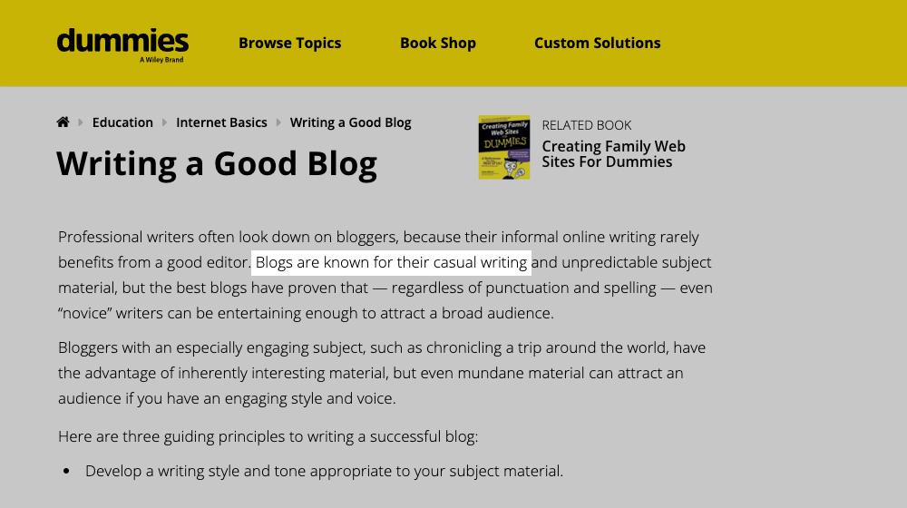 Casual Blogging