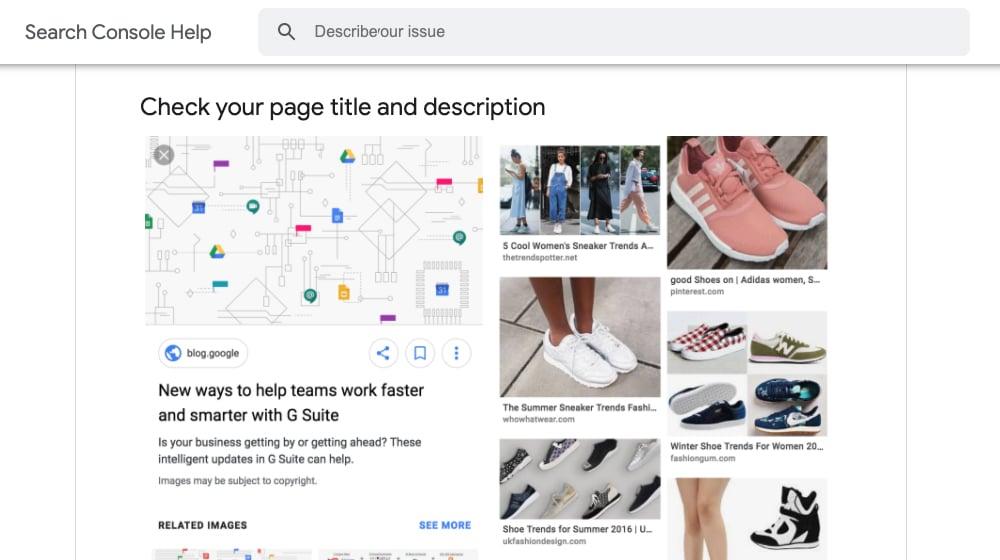 Google Image Formatting Tips