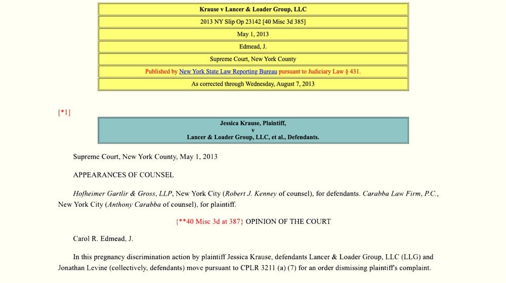 New York Case Log