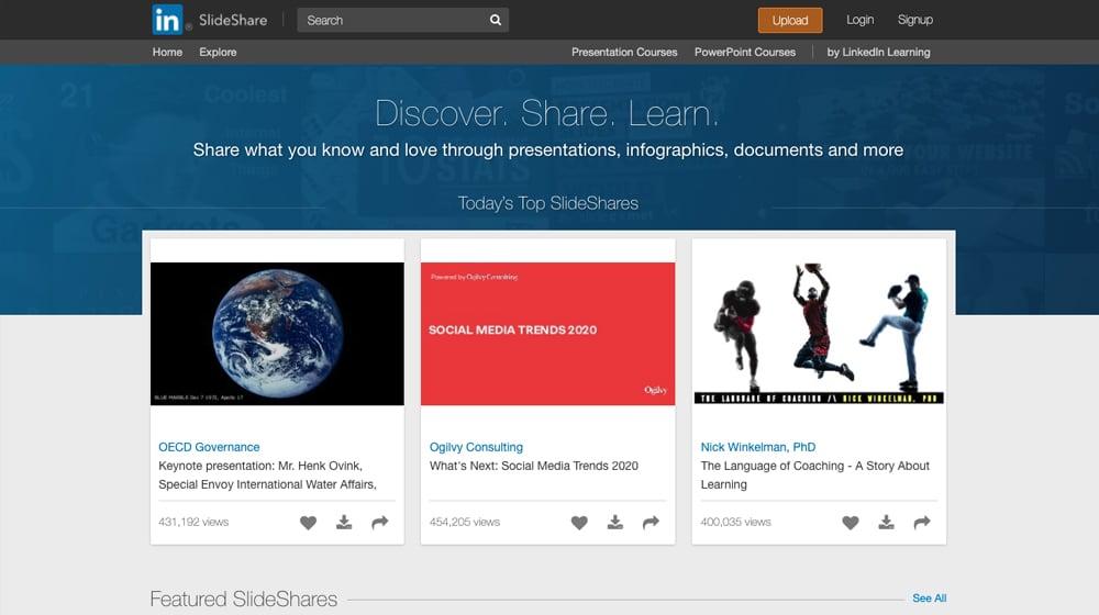 SlideShare Website