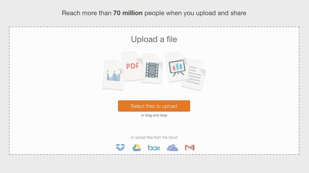 Uploading a PDF to SlideShare