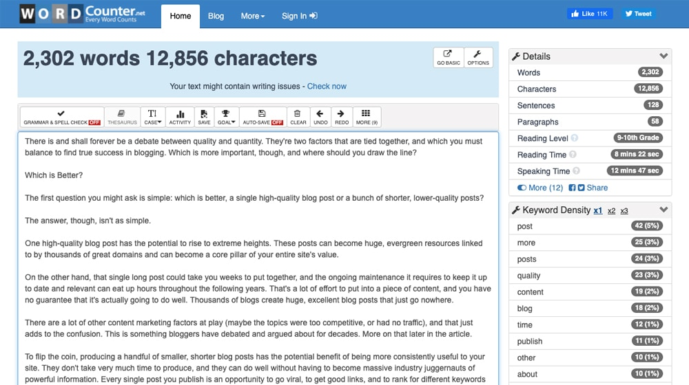 Word Count Checker