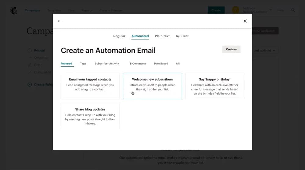Create an Automation Email