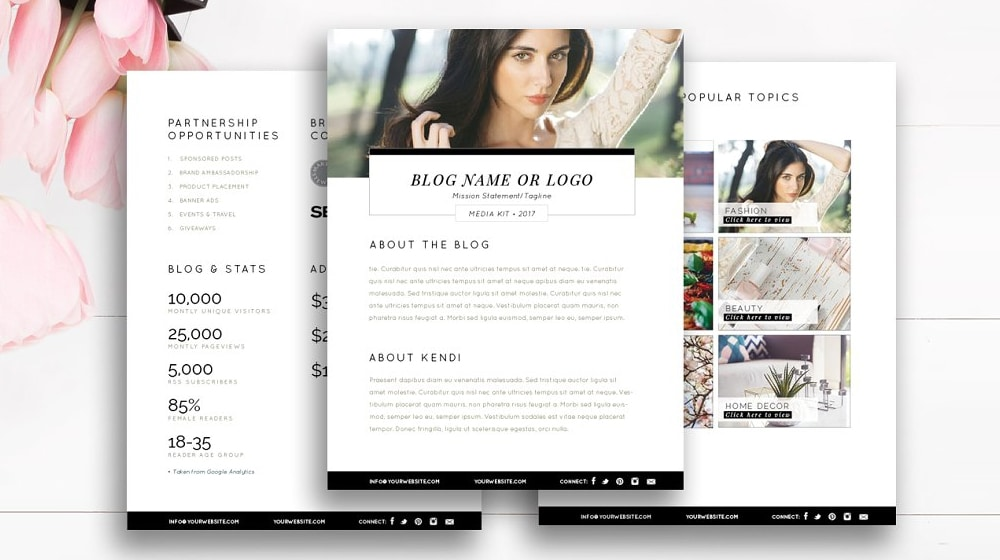 List Of 30 Blog Media Press Kit Examples And Templates