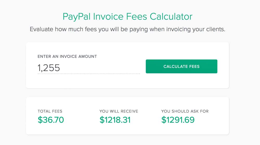 PayPal Fee Calculator