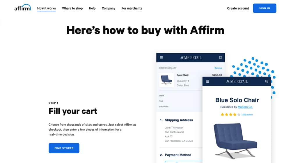 Affirm Site